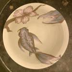 koi and cherry blossom bowl