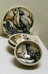 Peacock Bowl set 2