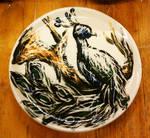 Peacock plate detail