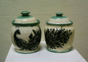 Peacock Jar set