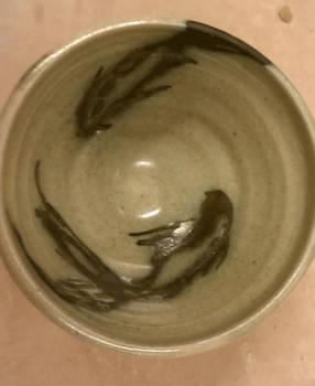 Koi underglaze bowl 1
