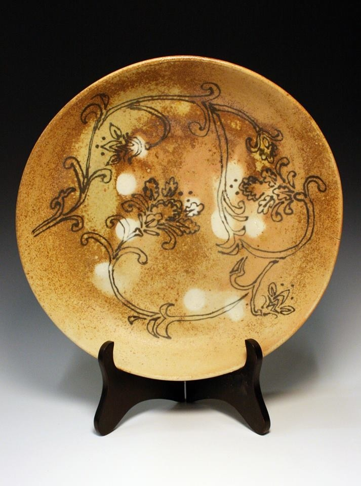Floral Woodfire plate