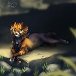 Sunbathing [SPEEDPAINT ADDED] by NightyART