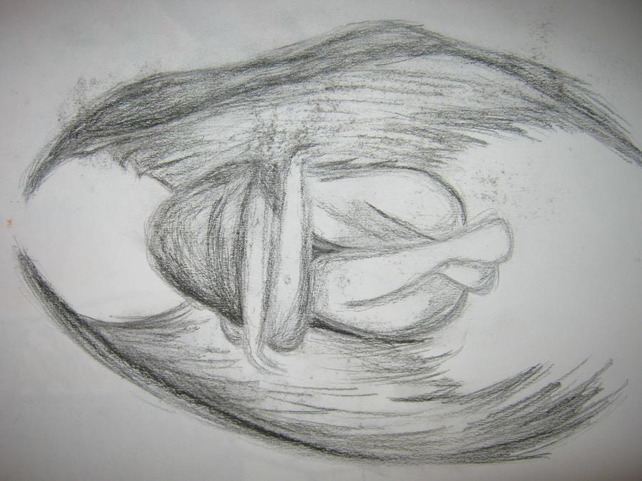 depressed angel drawings - photo #24