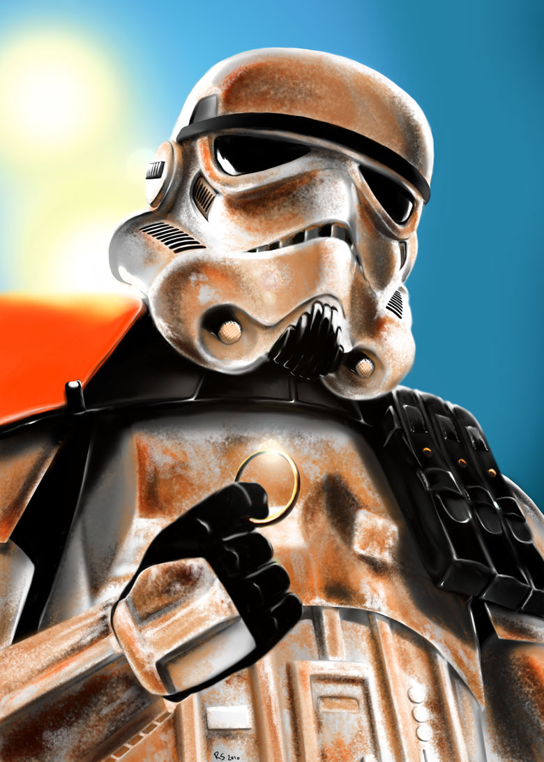 "Sandtrooper: ""what's this?"" by Robert-Shane"