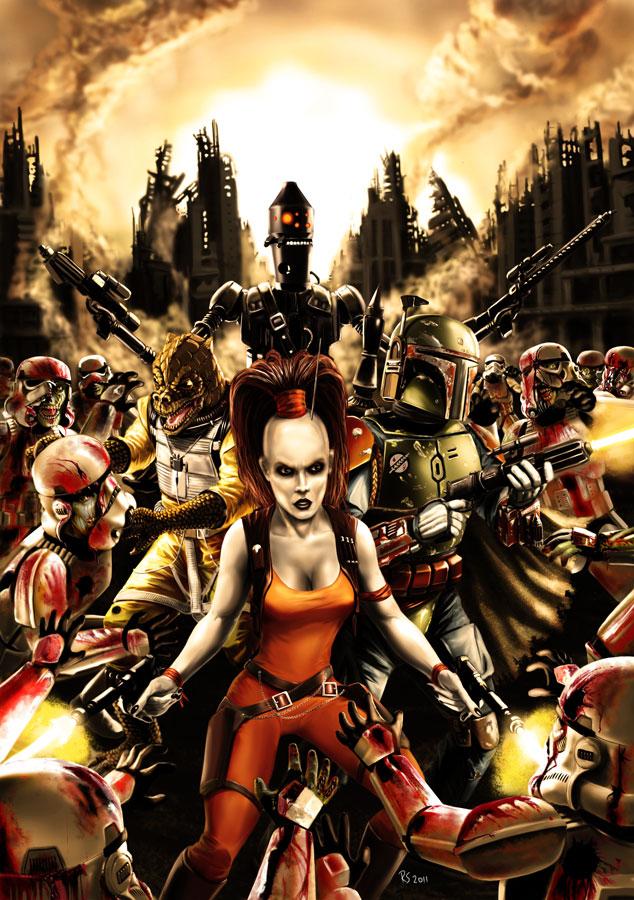 Star Wars Zombie Stormtroopers by Robert-Shane
