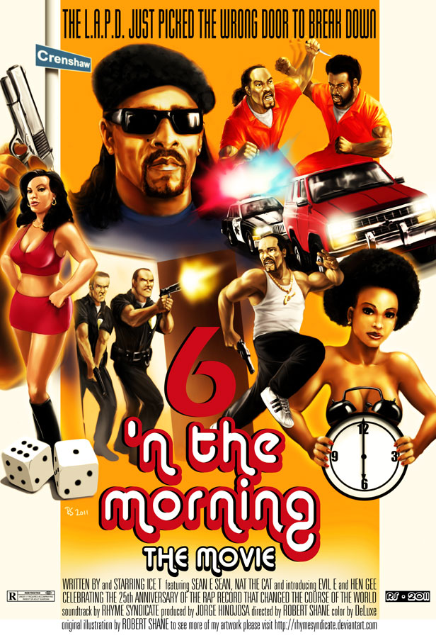 Ice T - 6 'n the morning movie poster concept by Robert-Shane ...
