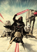 Darth Vader - Speeder Bike Attack by Robert-Shane