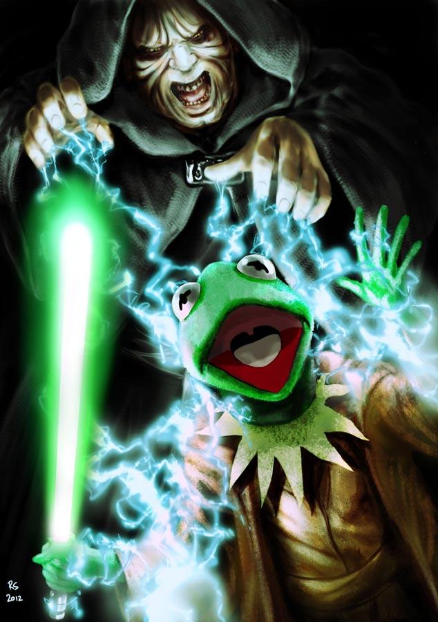 The Emperor vs Jedi Kermit by Robert-Shane