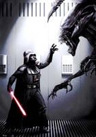 Darth Vader Meets His Match by Robert-Shane