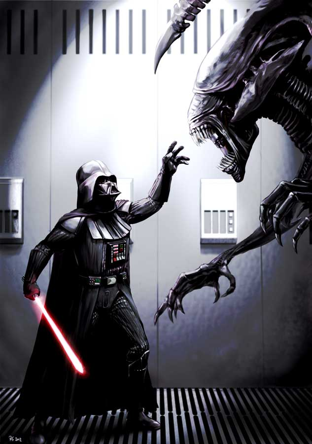 Darth Vader Meets His Match by rhymesyndicate