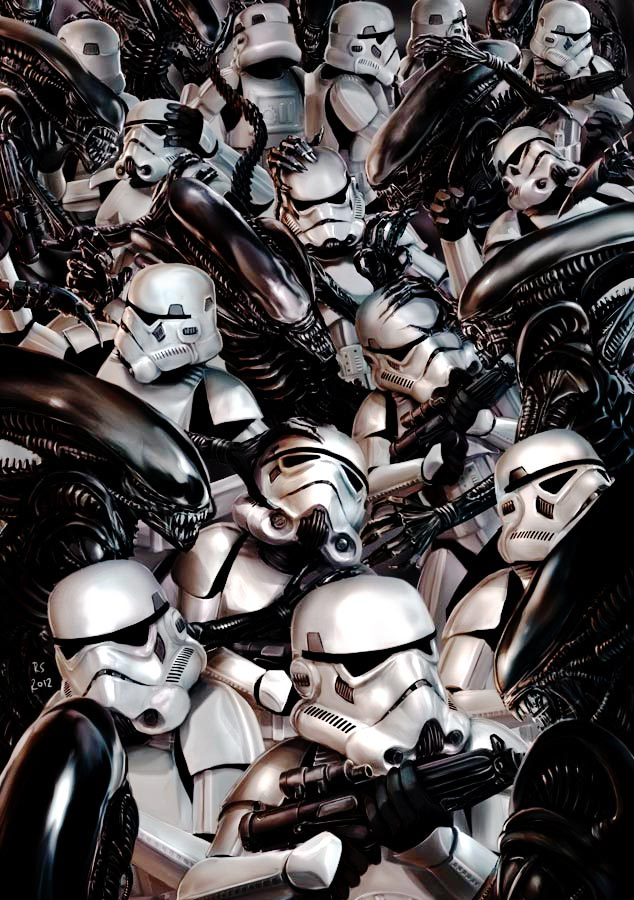 Stormtroopers vs Aliens by Robert-Shane