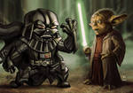 Yoda vs Lil Dude Darth Vader