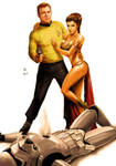 Star Wars meets Star Trek - Kirk and Leia
