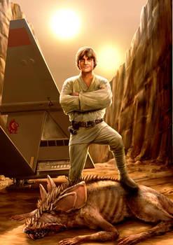 Luke Skywalker bullseyes another womp rat