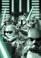 Concept Stormtroopers with Prototype Boba Fett