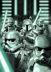 Concept Stormtroopers with Prototype Boba Fett by Robert-Shane