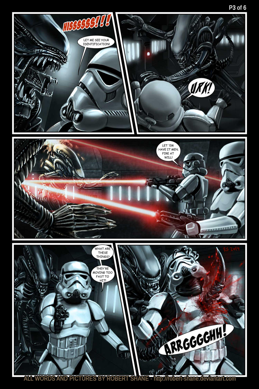 Star Wars vs Aliens by Robert Shane Page 3