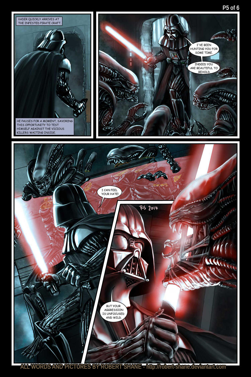 Star Wars vs Aliens by Robert Shane Page 5