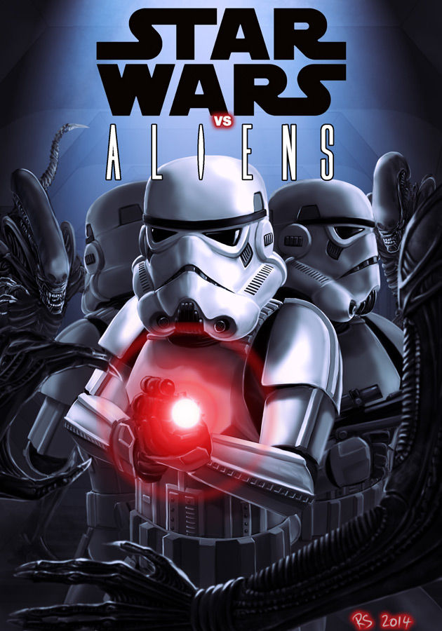 Star Wars vs Aliens by Robert Shane