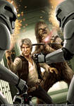 Han Solo and Chewbacca from The Force Awakens