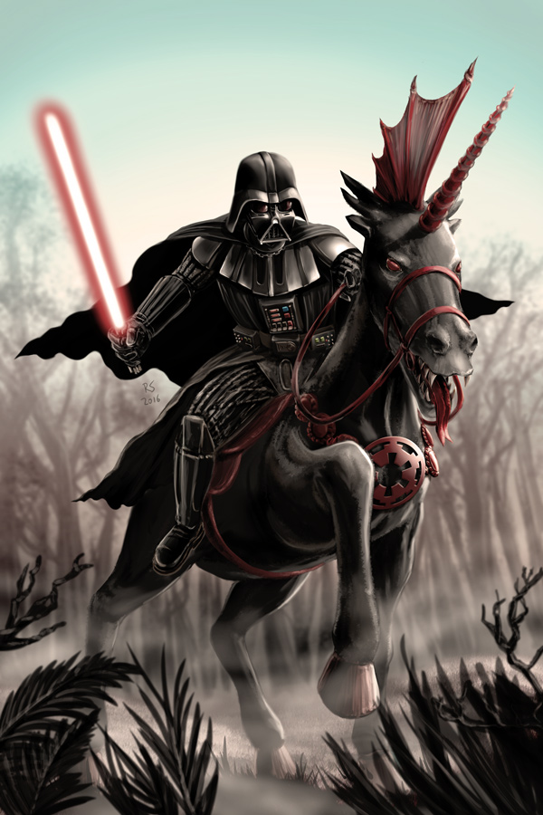 Darth Vader and My Little Pony by Robert-Shane