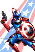 Captain America Rex by Robert-Shane