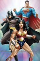 Wonder Woman, Batman and Superman by Robert-Shane