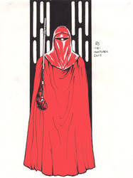 #Inktober pen sketch - Imperial Guard by Robert-Shane
