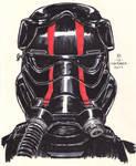 #Inktober pen sketch - First Order Elite TIE Pilot