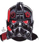 #Inktober pen sketch - Battlefront 2 Inferno Squad