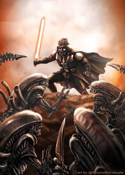 Vader vs Aliens 2020 by Rob Shane