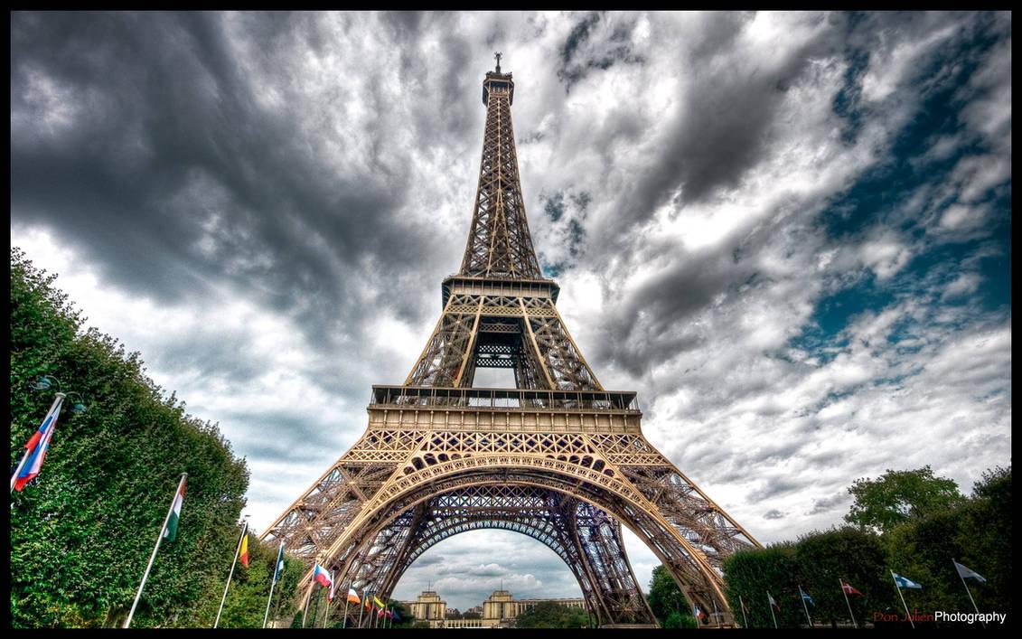 Paris - Eiffel Tower IV WP by superjuju29