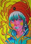 HIP HOP GIRL ( inspired by the artist DIBERKATO )