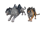 Armored tigers mmd