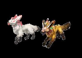 MMD Fennec Foxes dl by Tokami-Fuko