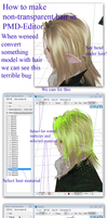 MMD Tutorial:  How to make transparen hair