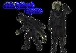 MMD TES V: Nightingale Argonian male (dl)