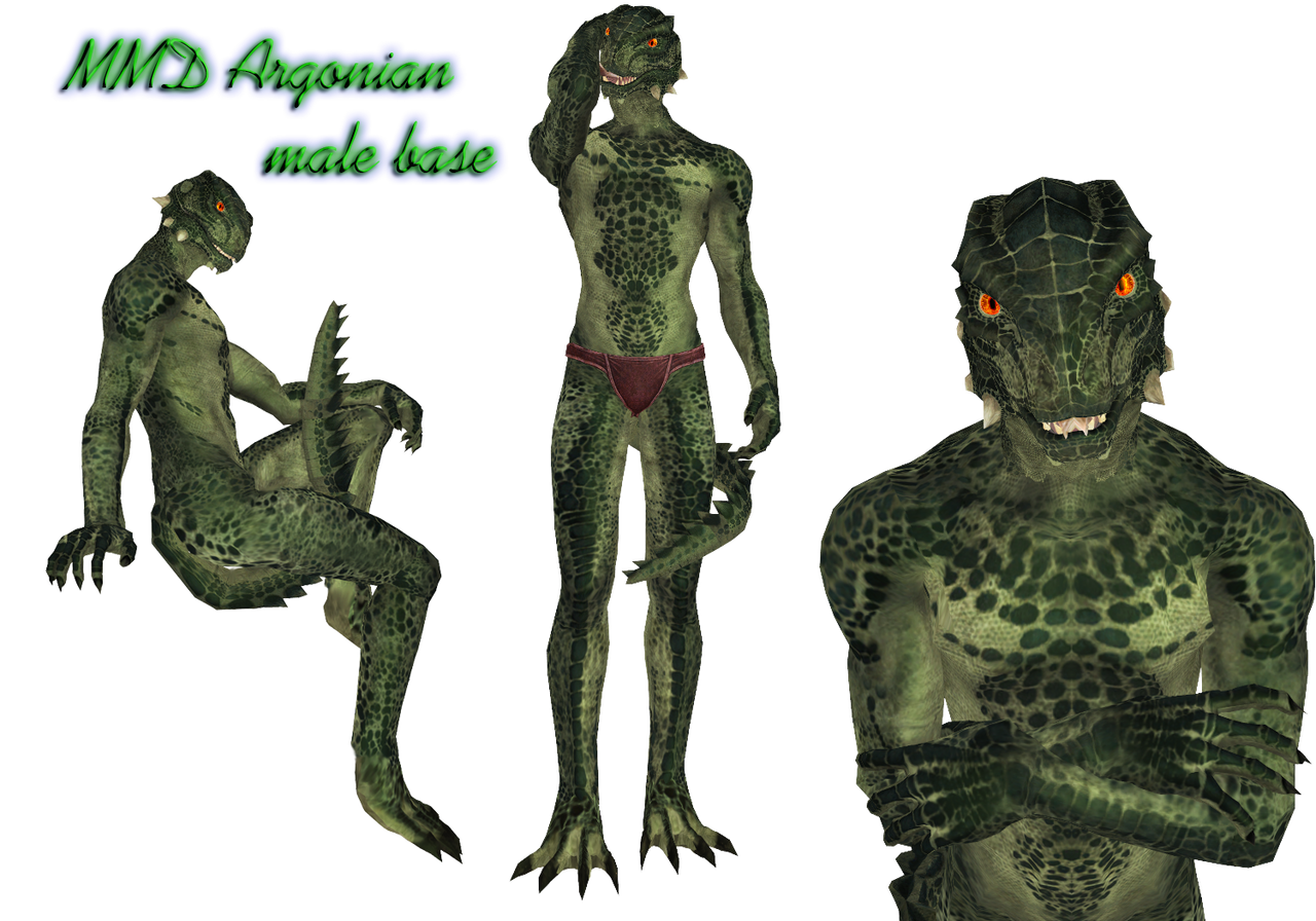 MMD TES: realistic Argonian male (possible DL) by Tokami