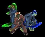 MMD Raptor and Argonian Spy download
