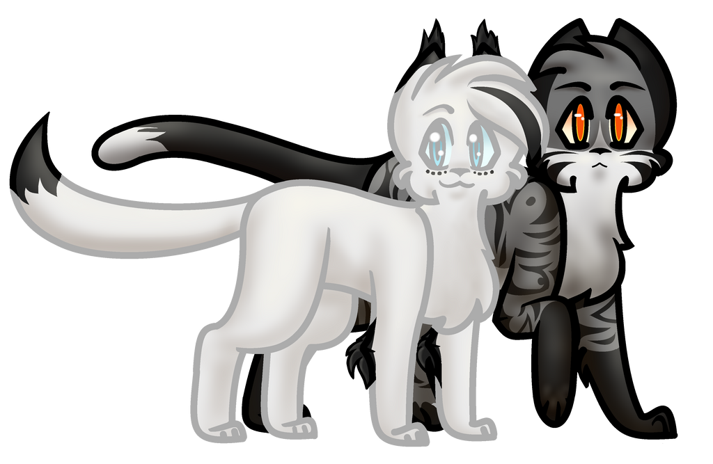 Snowfur and Thistleclaw by 34804