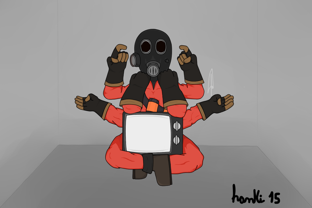 Pyro TF2 (Echo - Vocaloid pose) by TheHankKiller
