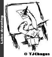 Lobo drawing by Lobo-Branco