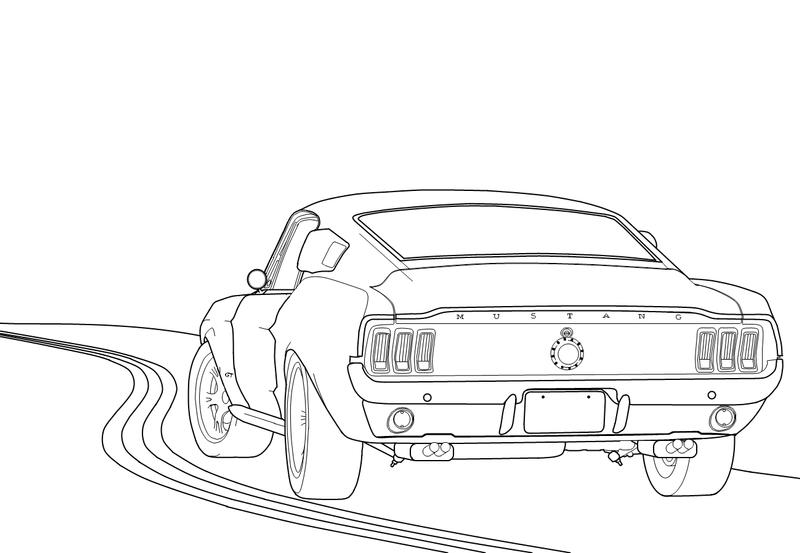 Ford Mustang Fastback 1967 by Lobo-Branco