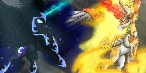 Nightmare Moon VS DayBreaker by FusionDash