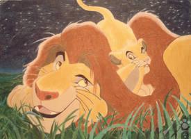 Lion king scene by SUPSAR