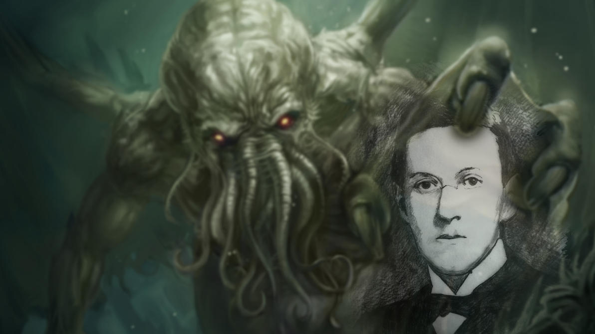 HP Lovecraft And Cthulhu Wallpaper By Poolday