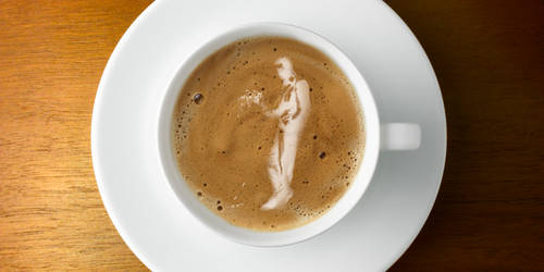 Coffee Art Waiting in Vain by Poolday