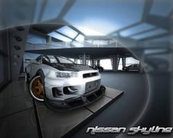 Nissan Skyline Wallpaper by stefanmarius