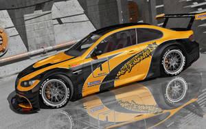 BMW M3 E92 Black and  Orange by stefanmarius